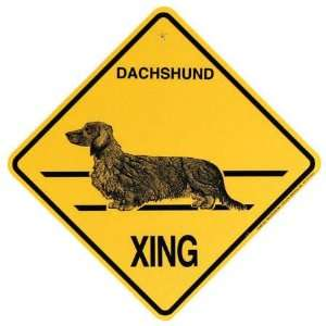 12 Dachshund (Long Hair) Crossing Xing Signs: Kitchen