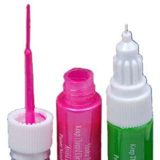 KT110 20 Colors 2 Way False Nail Art Brush Pen Polish