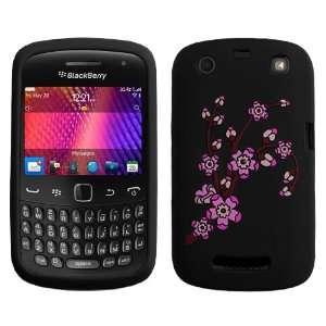 Spring Flowers/Black Pastel Skin Cover For RIM BLACKBERRY 9350