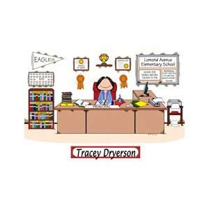 Principal School Administrator Cartoon Picture Gift
