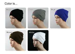 Gray Polo Short Knit Beanie Hat Red Small Logo BSM4 100% Cotton Unisex
