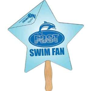 Star   Stock shape fan with a coupon and high gloss finish.