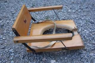Antique Rare Wooden Folding Potty Chair Seat