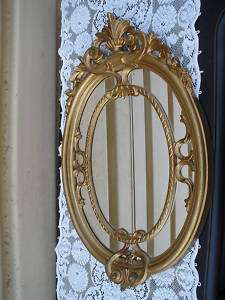 COL MS GOLD DECORATOR OVAL MIRROR ITALY