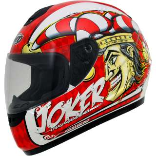 MT THUNDER JOKER POLYCARBONATE MOTORCYCLE MOTORBIKE FULL FACE ROAD
