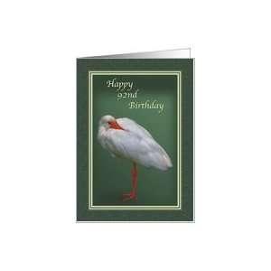 Birthday, 92nd, White Ibis Bird Card Toys & Games