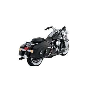 Black With Chrome Tips Exhaust Pipes For 2007 2008 Harley Touring
