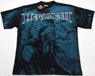 TOP HEAVY METAL ROCK MEGADETH DISCHARGE T SHIRT M 2XL