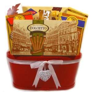 Sweet Temptation Gift Basket (Red)   Mothers Day Gift   Birthday Gift