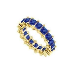 Fine Jewelry 6314298 Blue Sapphire Eternity Band  14K Yellow Gold 2.00