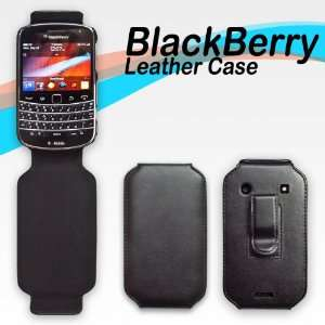 Blackberry Bold 9900 / 9930 Black Leather Cover Case Cell