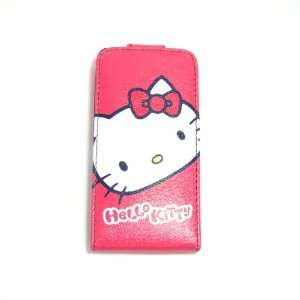 hello kitty head flip leather case for iphone 4 4G Cell