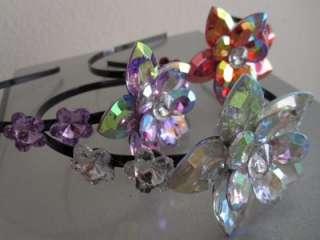 xoxo chic sparkle crystal flower rose hair headband