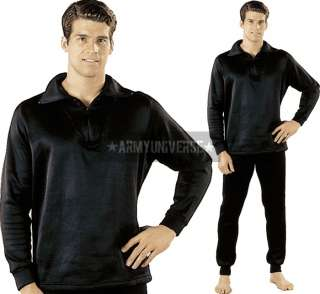 Black ECWCS Polypropylene Underwear Zip Collar Shirt