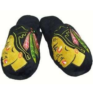 Chicago Blackhawks 2010 Official NHL Big Logo Hard Sole Plush Slippers