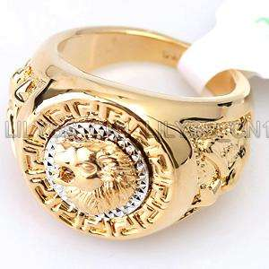 Cool Lion Eagle Star 18KGP Ring 069RG Sz 8, 9, 10, 11.5