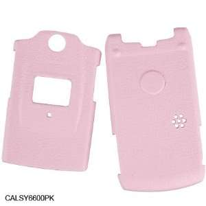 Sanyo Katana SCP 6600 Crystal Pink Leather Wrapped Case Cell Phones