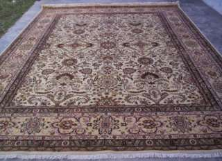 10x14 IVORY FINE 150 KPSI PERSIAN TABRIZ HAND KNOTTED WOOL AREA RUG