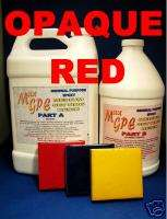 EPOXY RESIN GEL COAT REPAIR RED MEDIUM SET 1.5 Gal KIT