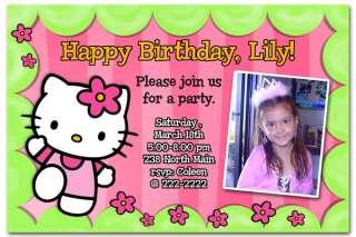 Hello Kitty Custom Photo Birthday Invitations FAST