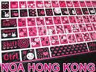 Cute Colorful Korean English Desktop Laptop Keyboard Sticker XJ