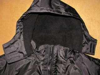 SNOZU Winter HEAVY DUTY Black WATERPROOF Removable Hood Jacket Parka