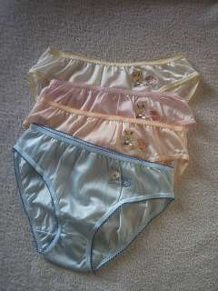 Nylon Embroidered Brief Panties/ Knickers S