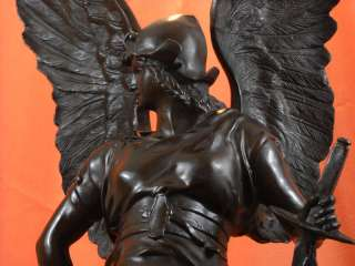 3ft Tall Winged goddess Warrior of Victory Nike Signed Bronze Statue