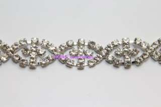 wedding cake decoration applique rhinestone crystal silver chain