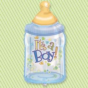 Bottle Its a Boy   38 Super Shaped Baby Shower Balloon: Toys & Games