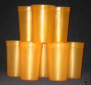 10 20ozTRANSLUCENT ORANGE PLASTIC DRINKING GLASSES CUPS