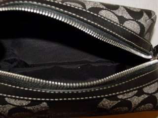 New COACH Signature Black White Travel Kit Bag F77225