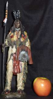 Native American Indian Western Standing with Spear
