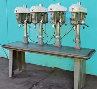 DELTA 17 FOUR HEAD MULTI SPINDLE DRILL PRESS   GANG DRILL
