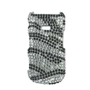 Mobile Samsung Factor M260 Accessory  Zebra Full Rhinestones Hard Case