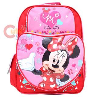 Disney Minnie Mouse School Backpack/Bag  Large Love Sugar Sweet
