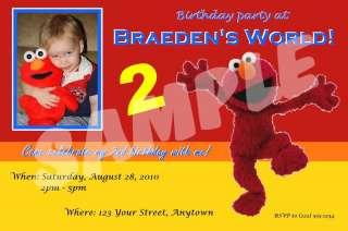 12 Elmo Custom Birthday Invitations & Envelopes