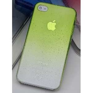 Gradient Light Green Crystal Water Drop Hard Case For