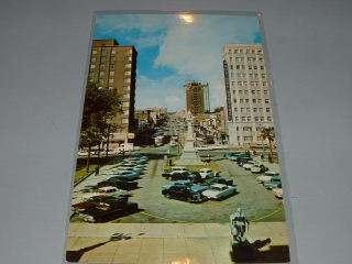COLUMBIA, SC 1960s Postcard, Main Street View, OLD CARS