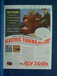 description original magazine ad from 1938 which shows rca victor