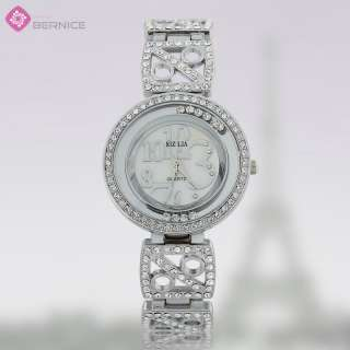 FASHION PERSONALITY WHITE TOPAZ QUARTZ WATCH FASHION LADY JEWELRY GIFT