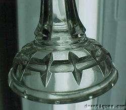 Antique c1880s Pattern Glass Oil Lamp + Eagle Burner
