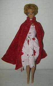 COLLECTIBLE 1962 MATTEL MIDGE BARBIE DOLL WITH RED DRESS COAT
