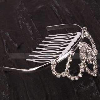 Pcs Elegant Wedding Bridal Rhinestone Alloy Tiaras Crown Hair Comb