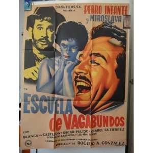 Original Mexican Movie Poster Escuela De Vagabundos Pedro