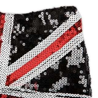 Size US 0 6 USA flag Skirt Sequins Leggings Tights Pants Warm Women