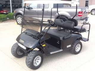 2012 E Z GO Golf cart Gas lights Black new with 2 in lift kit w rear