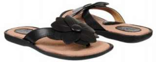 BORN b.o.c. Flowered Strappy Thong Sandals in White, Black or Pewter