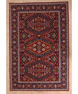 Style Kilim Chain stitched Rug 4 x 6 (Kashmir)