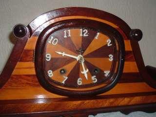 Antique Ingraham Mantle Clock 8 Day Art Deco